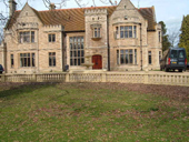 country house with balustrade