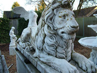 Aged Lion Statues